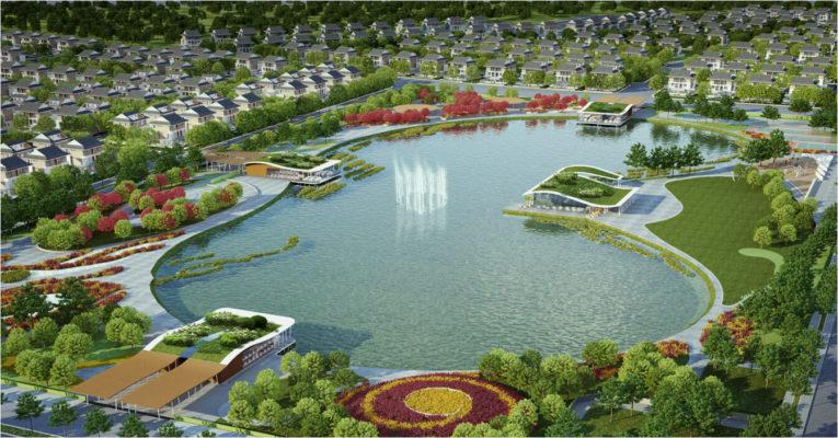 Hồ điều hòa Bách Hợp Thủy & Công viên Thiên Văn học