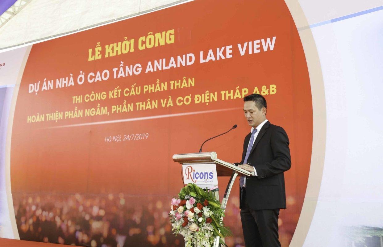 Phía Ricons, ông Lê Miên Thụy tổng giám đốc Ricons phát biểu